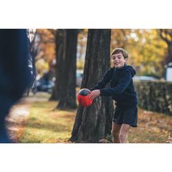 Vrijetijds rugbybal Wizzy R100 maat 3 rood schuimrubber