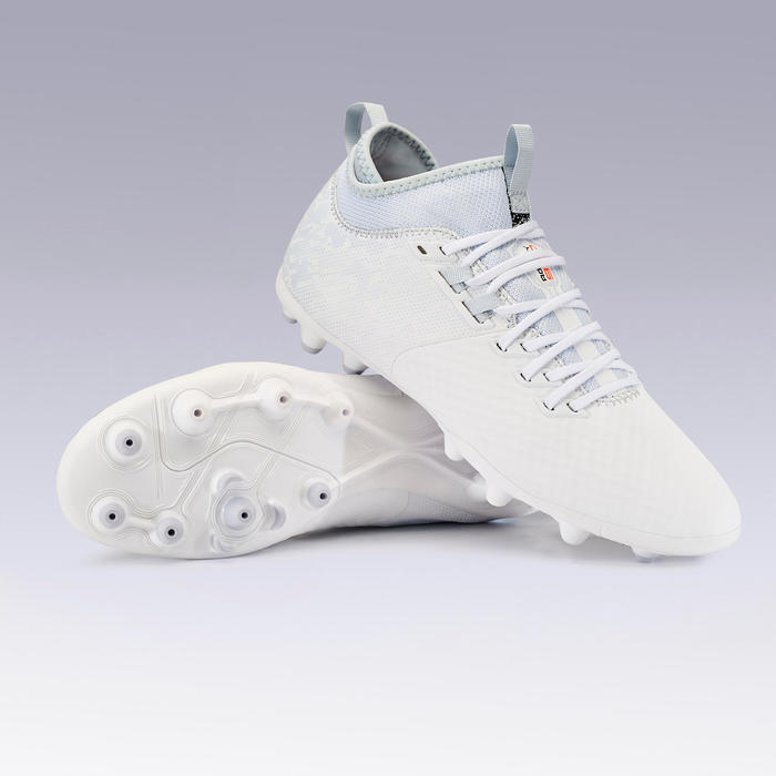 Adult Mixed Ground Football Boots Agility 900 Mesh MiD - White