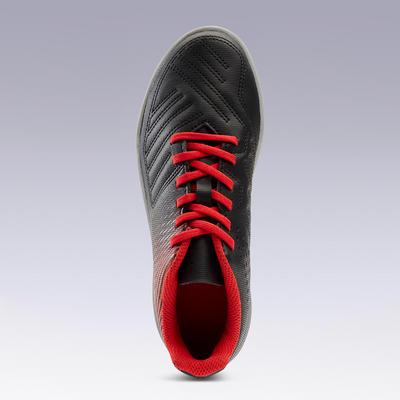 Guayos de Fútbol Kipsta Agility 100 HG niños negro Rojo