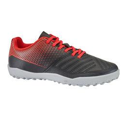 Voetbalschoenen Agility 100 HG zwart rood voor hard terrein