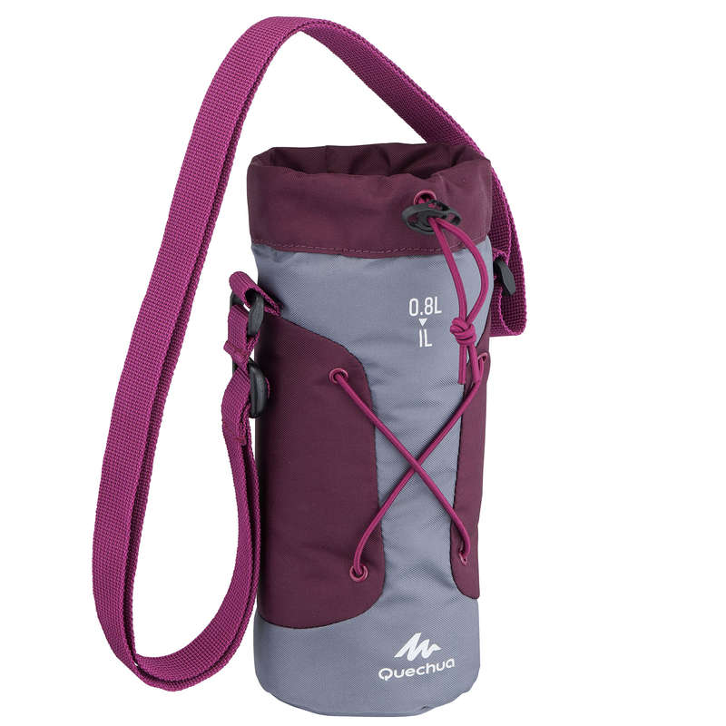 HIKING BOTTLES Hiking - Insulated cover 1L - Grey/ppl QUECHUA - Hiking