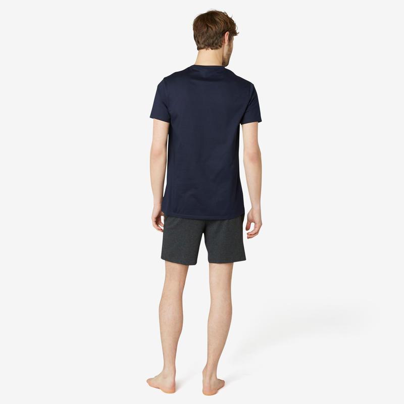 100% Cotton Fitness T-Shirt Sportee - Navy Blue