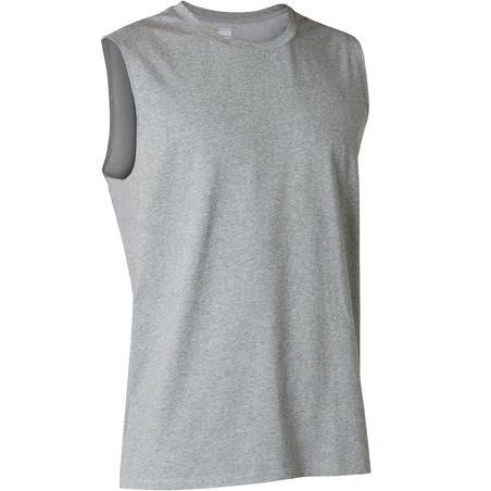 Men's Regular-Fit Pilates & Gentle Gym Sport Tank Top 500 - Grey