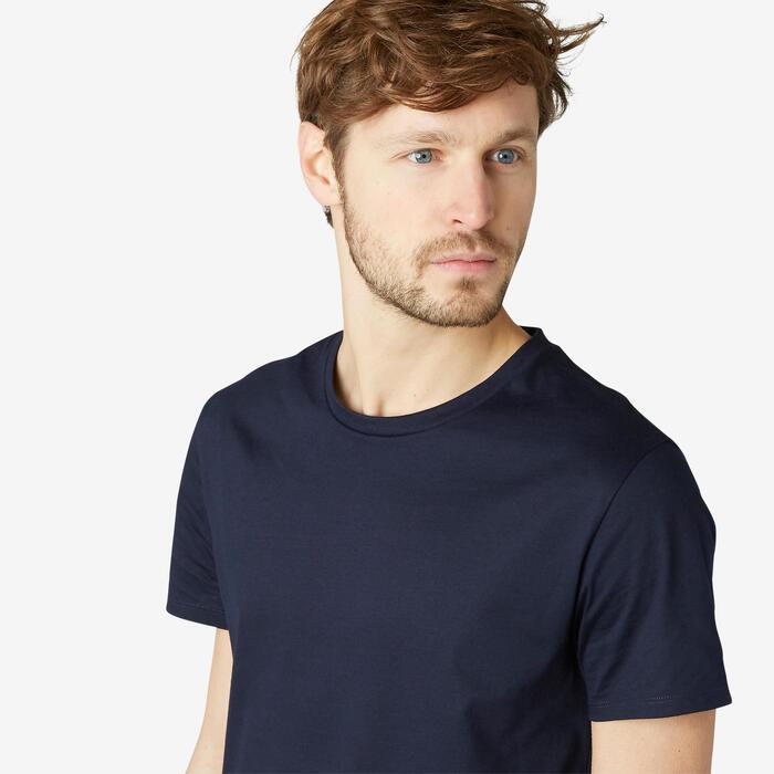 T-Shirt 100 Homme Bleu Marine