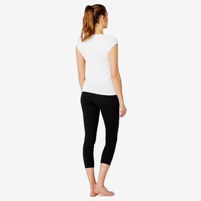 T-Shirt Slim 500 Femme Blanc