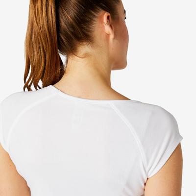 Camiseta slim 500 mujer blanco