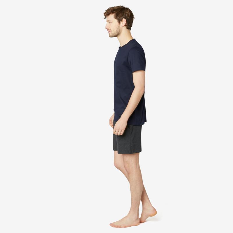 Fitness Pure Cotton T-Shirt Sportee - Navy Blue