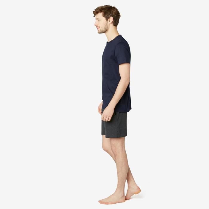 T-Shirt sport Pilates Gym Douce homme 100 Regular Bleu Marine