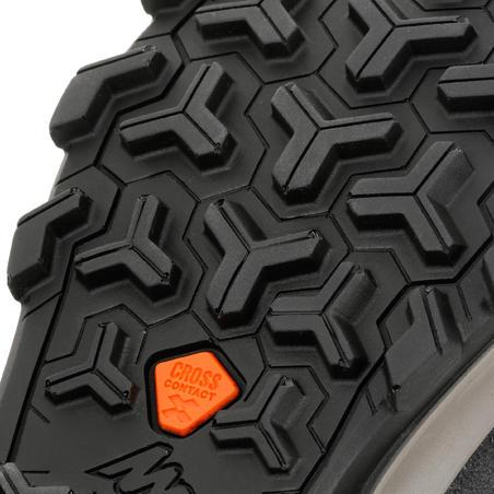Bottes de randonnée MH500 montantes imperméables marron - Enfants