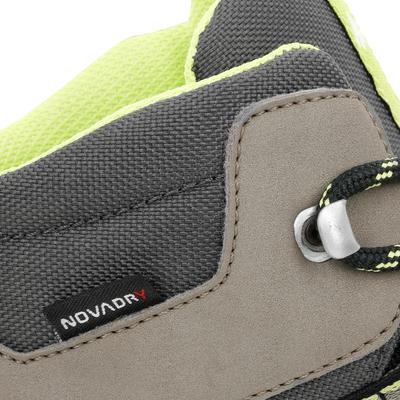 נעלי טיולים עמידות למים בגובה בינוני לילדים MH500 - חום