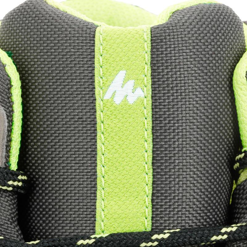 Kids Waterproof High Top Hiking Shoes MH500 - Brown