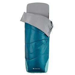2-in-1 slaapzak Sleepin Bed MH500 15°C L blauw