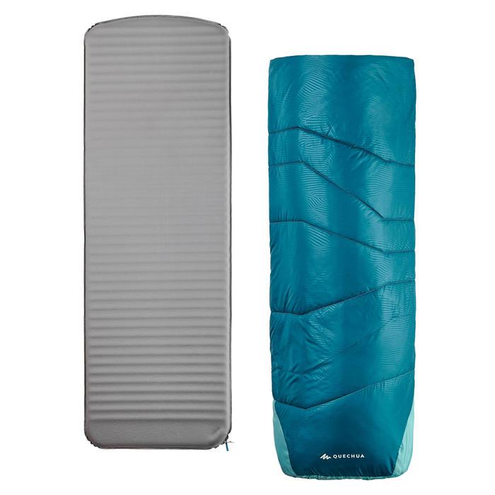 SLEEPIN BED MH500 - SAC DE COUCHAGE ET MATELAS 2 EN 1 - BLEU - 15°C - L