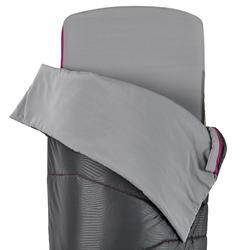 SAC DE COUCHAGE 2 EN 1 - SLEEPIN BED MH500 15°C L PRUNE