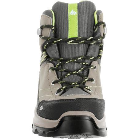 Botas Impermeables de Montaña y Trekking, Quechua, MH500 MID, Niños, Gris/Verde