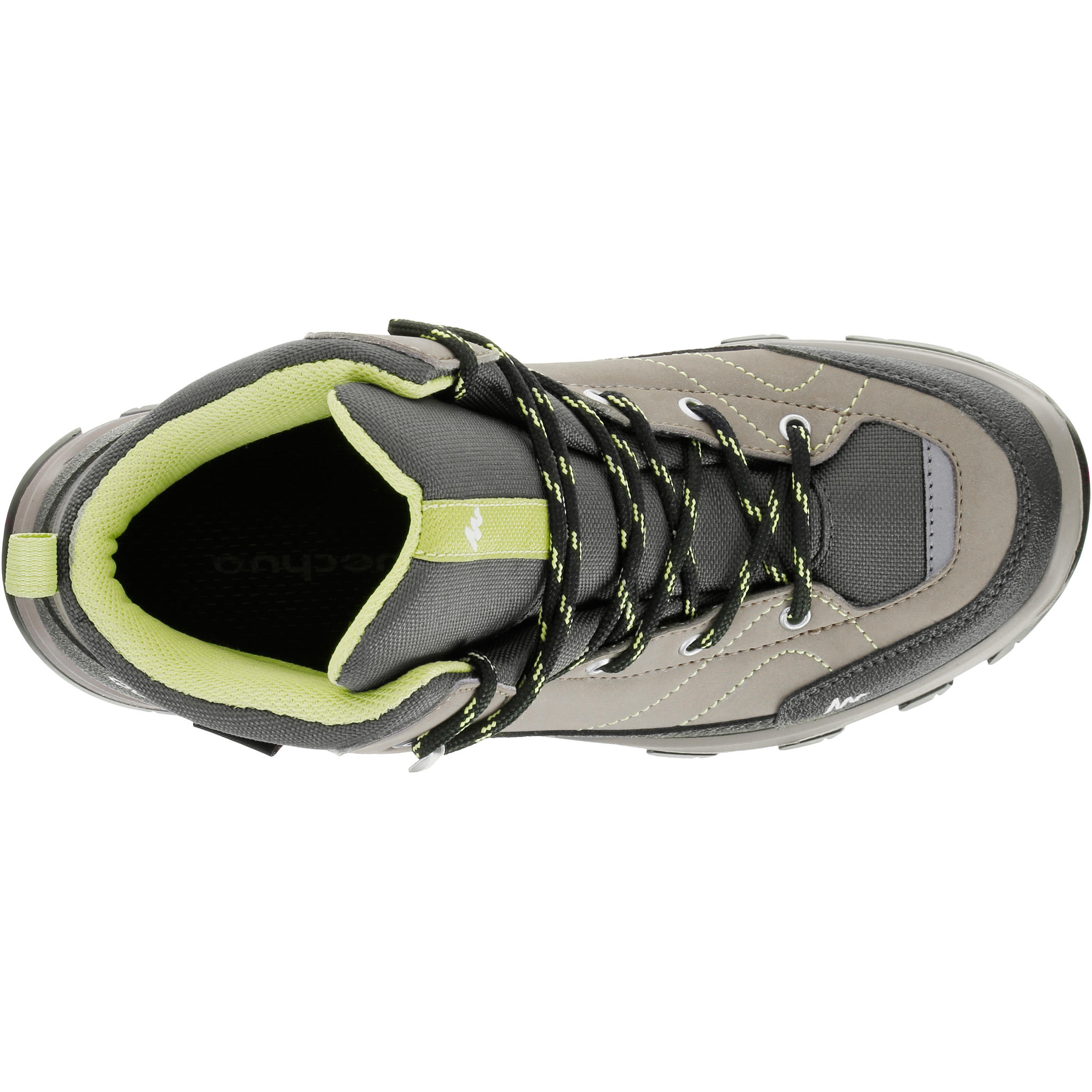 MH500 Mid Children's Waterproof Hiking Shoes - Brown