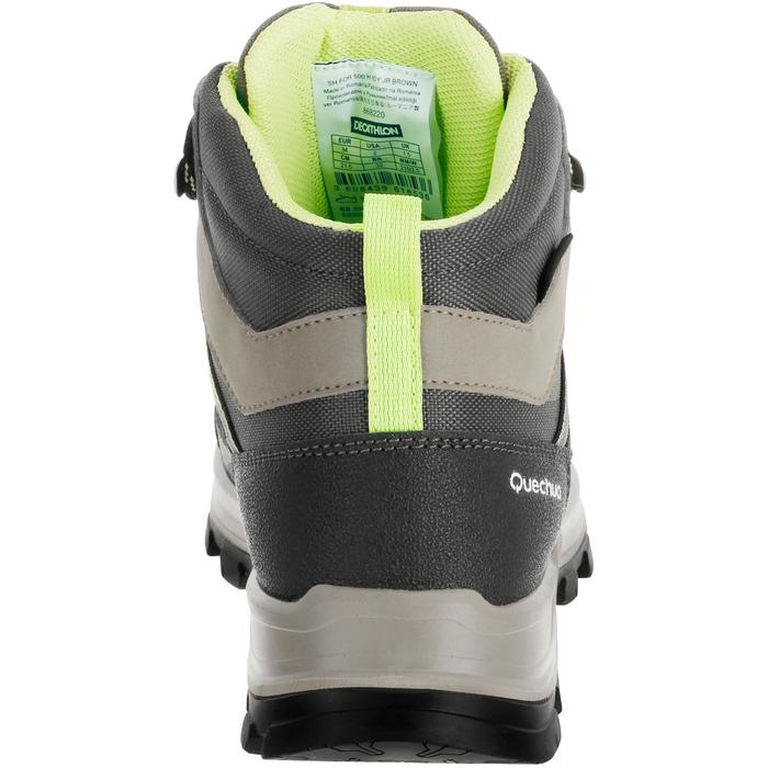 Children's waterproof high hiking shoes MH500 - brown