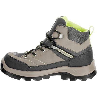 Kid's Waterproof hiking shoes MH500 brown jr size 10 - 5