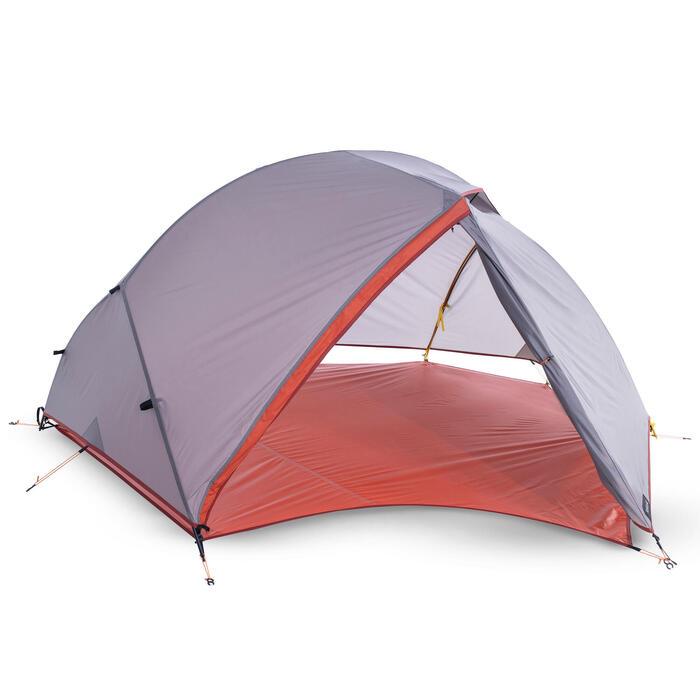 Bodenplane ultralight für Zelt Trek 900 3 Personen orange