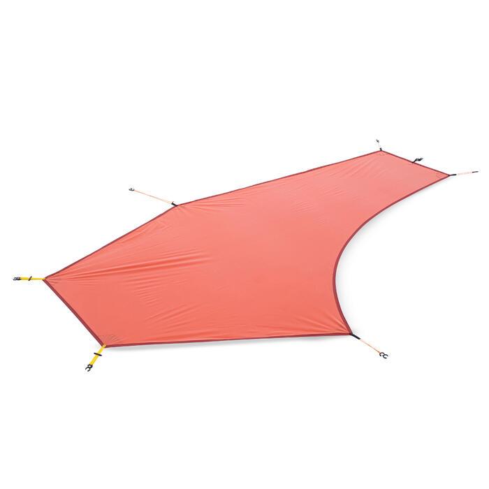 Grondzeil voor tent TREK 900 Ultralight 1 persoon oranje