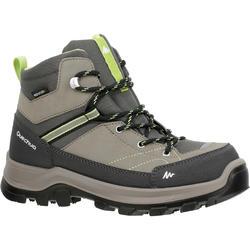 Botas de montaña y trekking niños Forclaz 500 Mid impermeable marrón talla 28-38