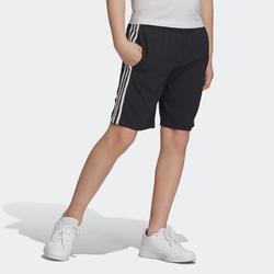 Shorts Logo am Bein Kinder 3 weiße Streifen an den Seiten