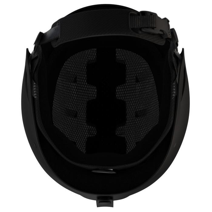 Skihelm voor pisteskiën volwassenen HRC 500 zwart