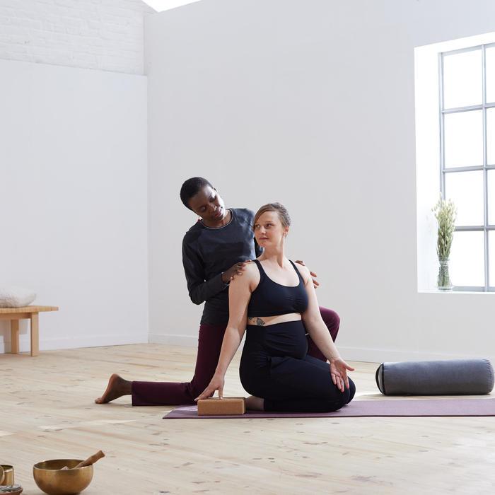 Broek voor zachte yoga zwangerschap zwart