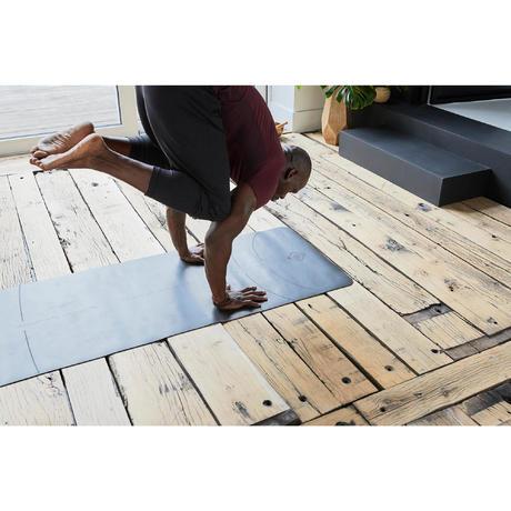 dynamic yoga mat grip  3mm  grey  domyosdecathlon