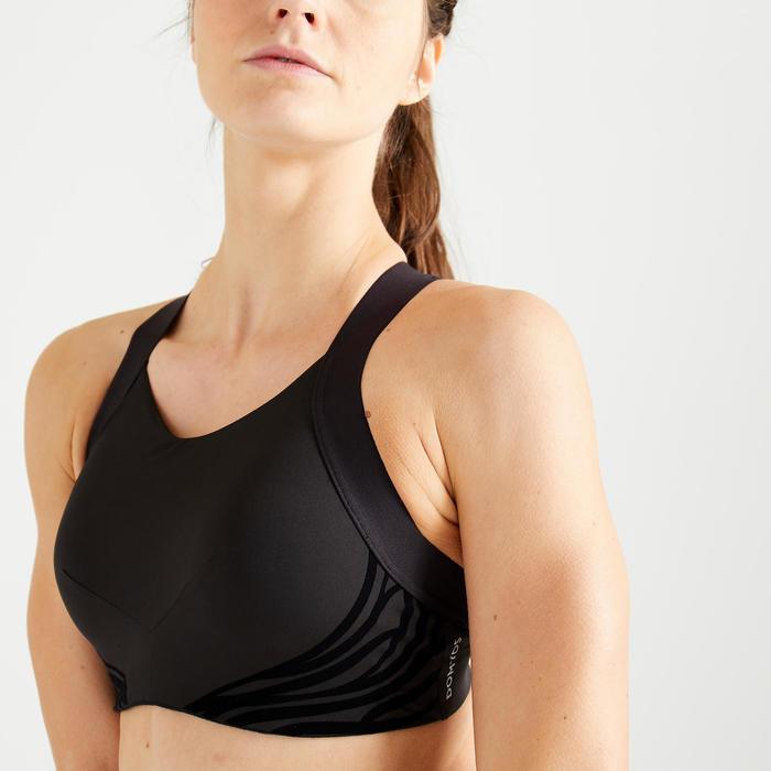 Brassière fitness cardio training femme noire 520