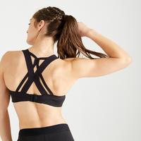 Top Deportivo Mujer Fitness cardio-training 520 Negro