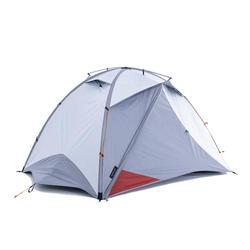 Tente dôme de trekking 3 saisons - TREK 500 Fresh & Black gris orang 3 personnes