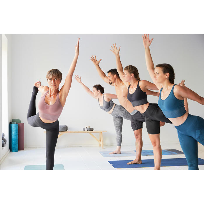 防滑瑜珈舖巾- 灰色/藍色