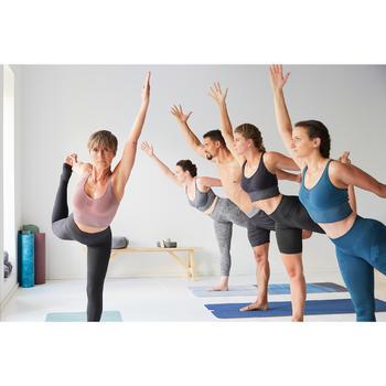 Antislip handdoek yoga grijs / blauw