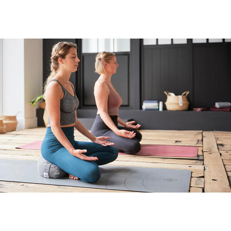 yoga  meditation zafu cushion  mottled grey  domyos