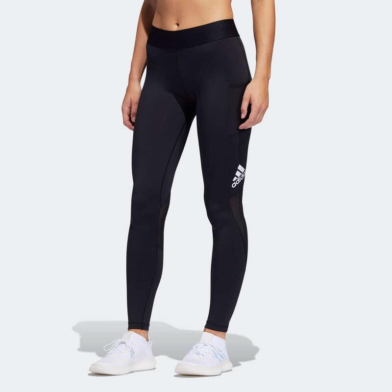 Îmbrăcăminte cardio fitness damă - Colanţi Adidas Negru Damă ADIDAS