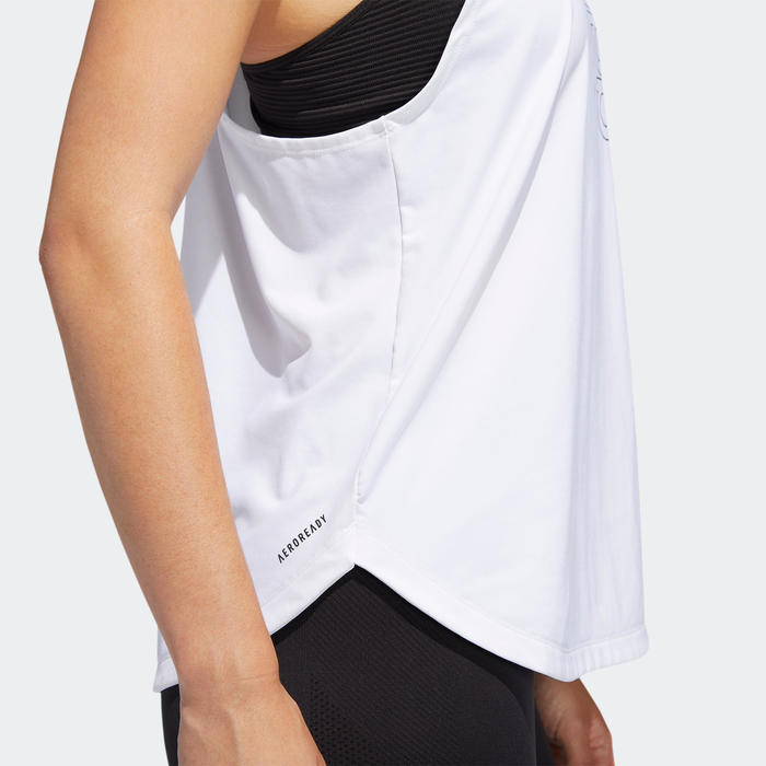 Fitness top ADIDAS wit