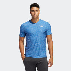 T-shirt Adidas voor cardiofitness training heren blauw.