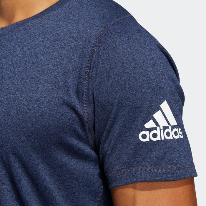 Tee shirt homme Adidas Fitness cardio training Bleu chiné.