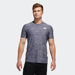 Tee Shirt Adidas homme Fitness Cardio Training gris chiné