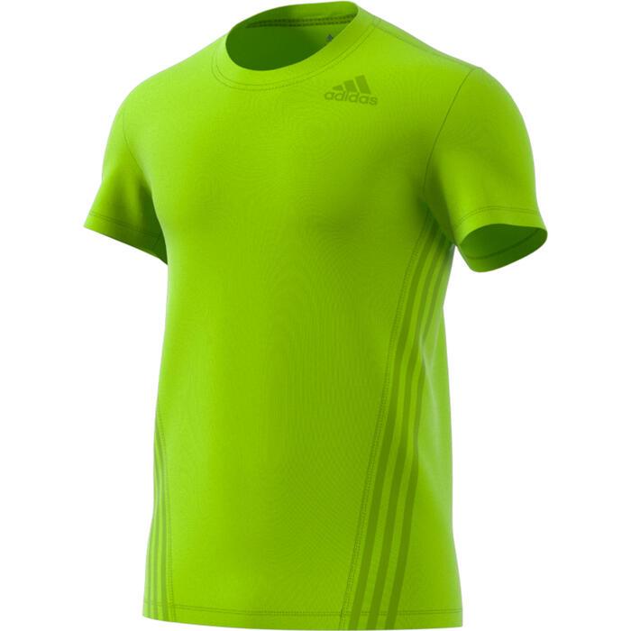 T-shirt voor cardiofitness training voor heren geel
