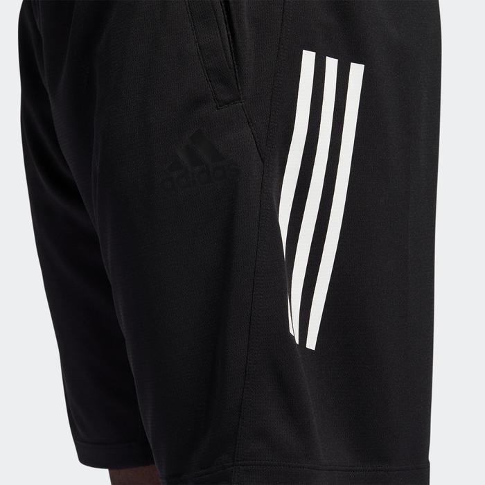 Short de fitness Adidas 3-stripes noir homme