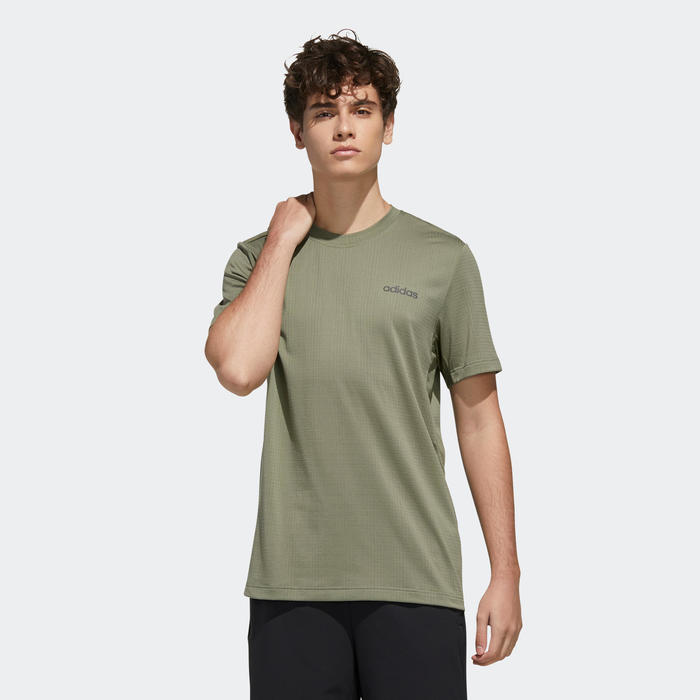 T-shirt cardiofitness training Adidas Aeroready groen kaki