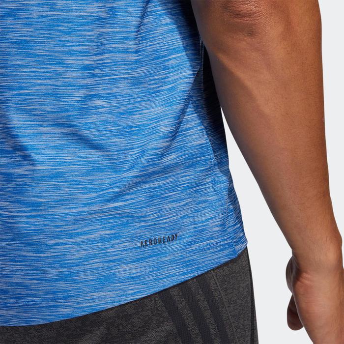 Tee shirt Adidas Fitness cardio Training homme Bleu.