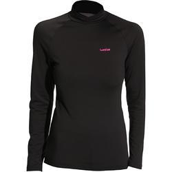 Thermoshirt dames | Thermokleding dames | Wedze Freshwarm | Zwart