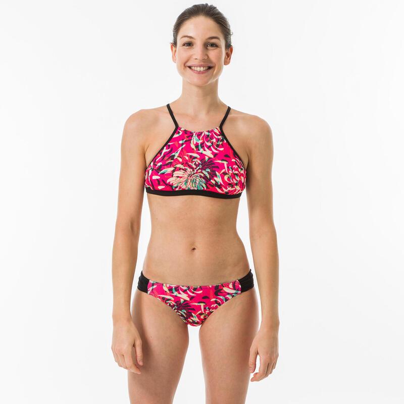 Braguita Bikini Surf Mujer Olaian Estampada Talle Bajo Niki Rosa
