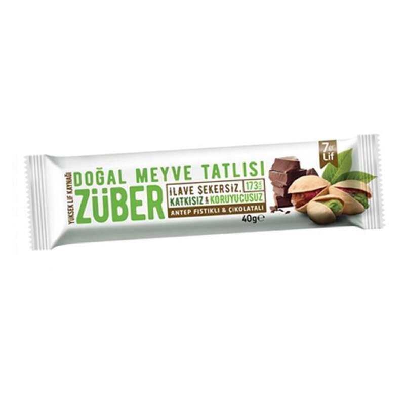 BARLAR, JELLER& SPOR SONRASI Sporcu Besinleri - Züber Antep Fıstıklı Kakaolu ZUBER - SPORLAR