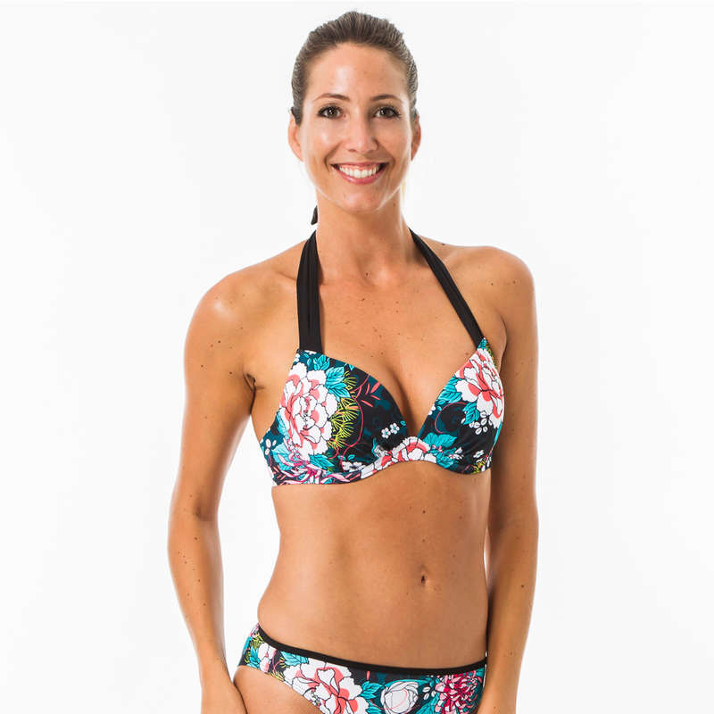 COSTUME ÎNOT SURF ÎNCEPĂTORI FEMEI Surf, Bodyboard, Wakeboard - Sutien Push Up Elena  OLAIAN - Costume de baie, Protectii Solare, Papuci