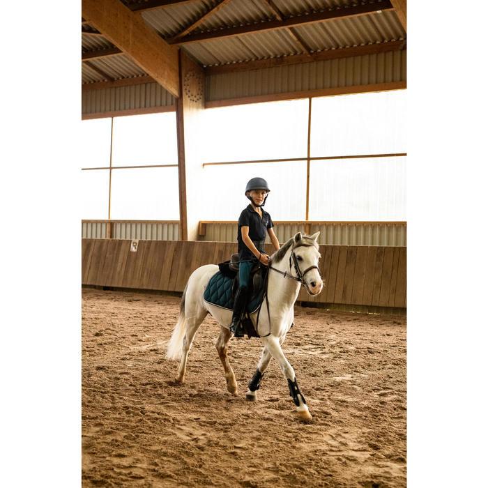Pantalon équitation enfant 100 LIGHT bleu pétrole et bleu marine