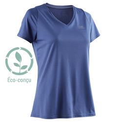 RUN DRY WOMEN'S RUNNING T-SHIRT - BLUE